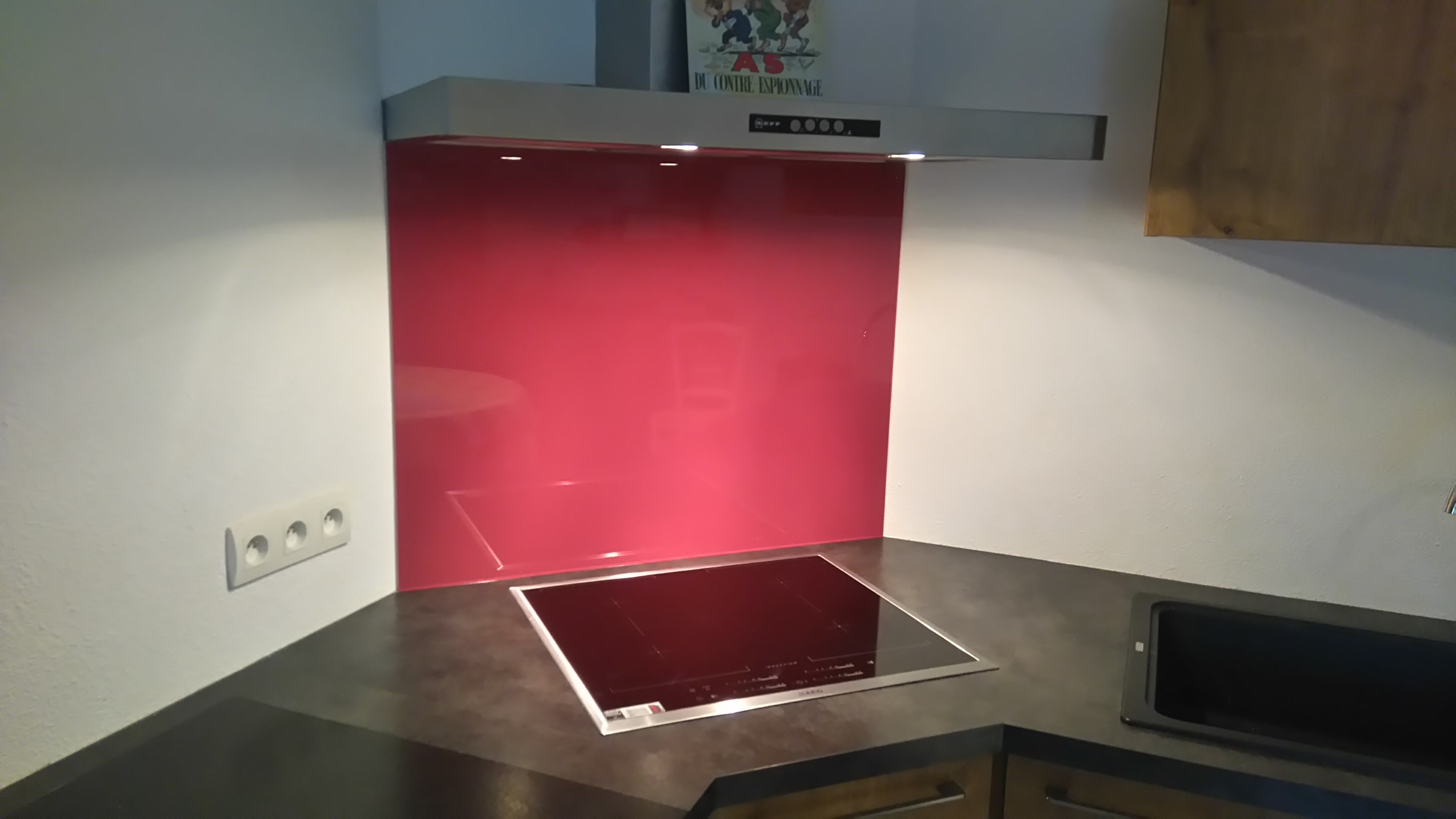 verre vos mesures verre pour cr dence et fond de hotte verre laqu couleur 6 mm au choix. Black Bedroom Furniture Sets. Home Design Ideas