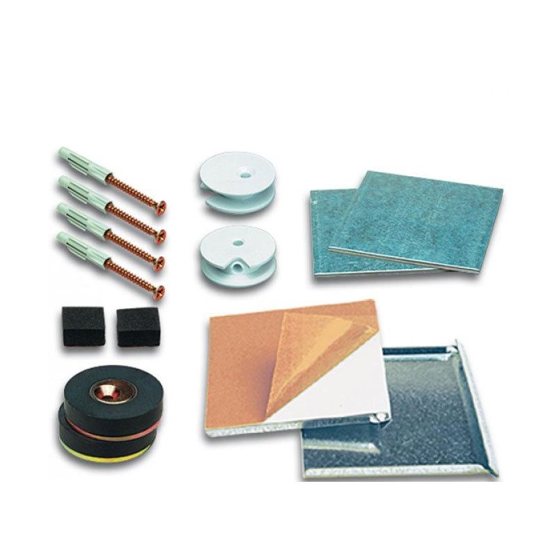 Accessoires support et fixation verre et miroir set for Verre et miroir