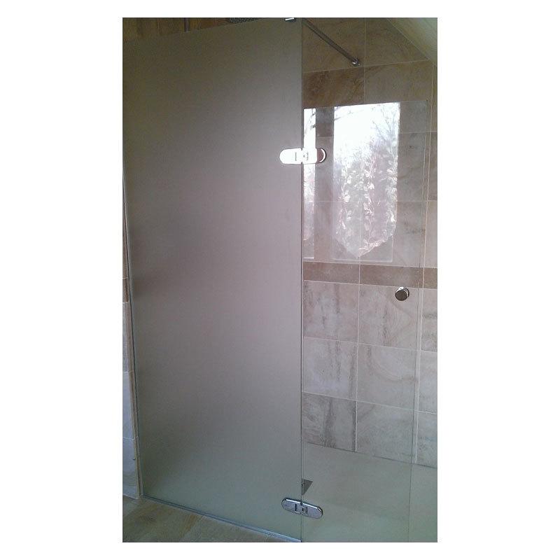 Cr ations en verre bain et douche verre tremp d poli for Douche en verre trempe