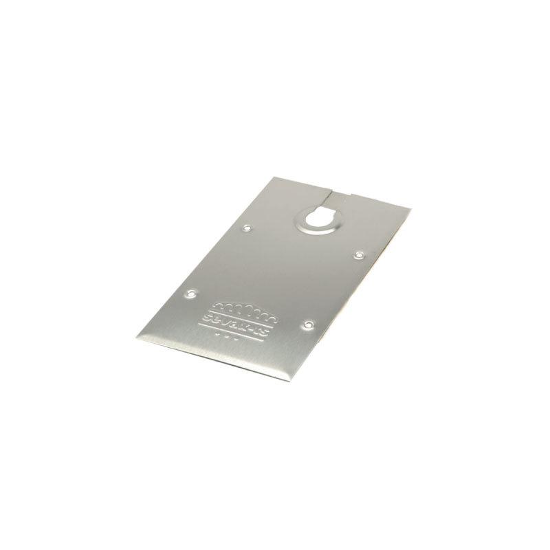accessoires pour portes en verre plaque inox pour frein sevax tsa. Black Bedroom Furniture Sets. Home Design Ideas